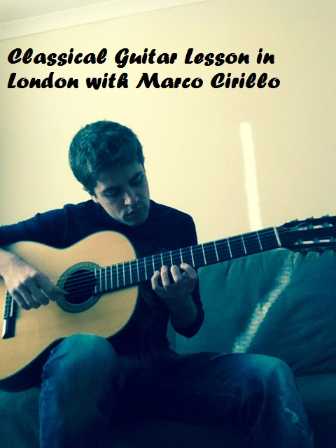 London Classical Guitar Lesson with Marco Cirillo Pro Guitar Teacher in London - Kilburn - Central london - Kensington