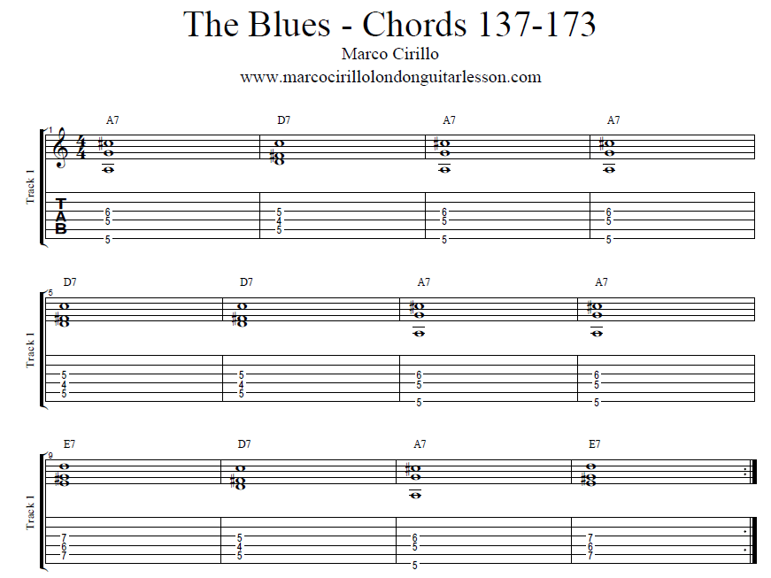 Marco Cirillo London Guitar Lesson The Blues Chords and Structure - Free Online Guitar Lesson in London.