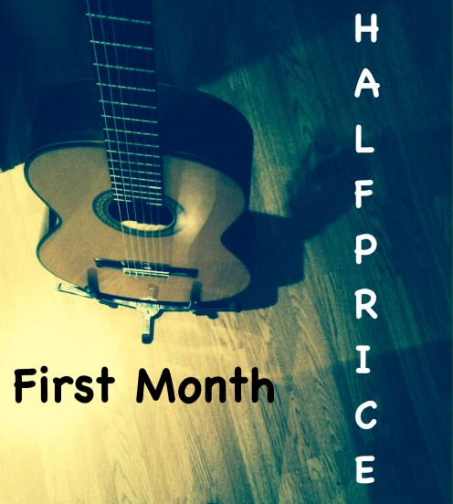 First Month Half Price - Learn Guitar in London with Marco Cirillo - London Guitar Lesson Kilburn - Central London - Kensington