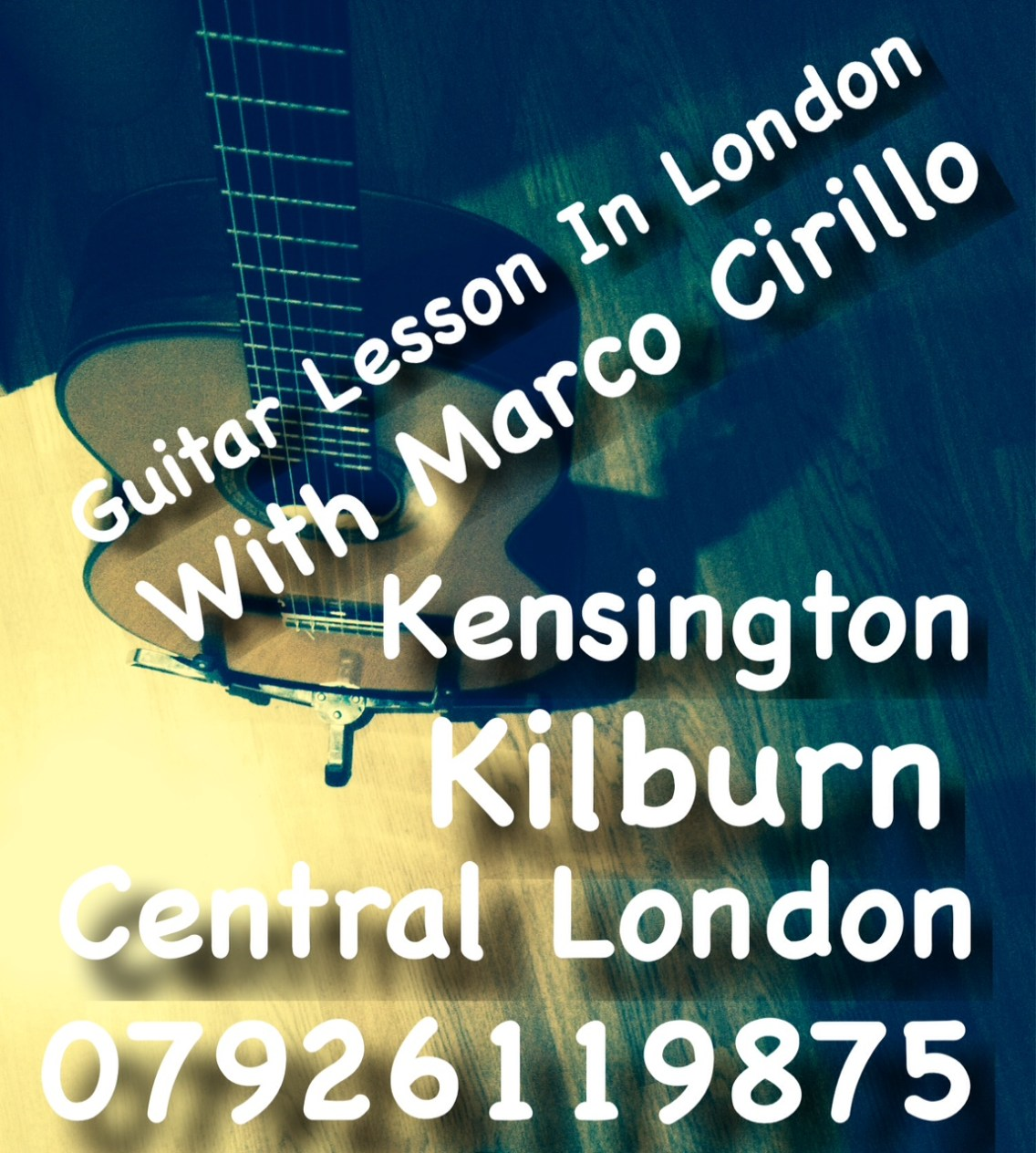 Guitar Lesson in London - Kilburn - Central London and Kensington with Marco Cirillo Pro Guitar Teacher Based in London. Learn Electric, Acoustic and Classical Guitar Lesson. For Beginners and Advanced Guitar Players.