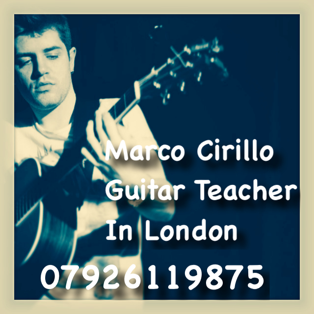 Guitar Teacher London - Electric, Acoustic and Classical Guitar Lesson with Marco Cirillo, Qualified Guitar Teacher in London.