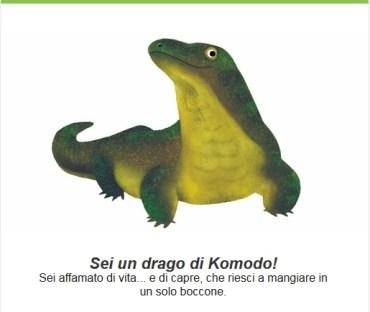 Il test di Google mi dice che sono un Drago di Komodo
