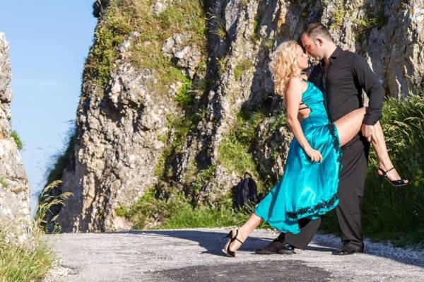 Matteo e Olha nell'abbraccio del Tango