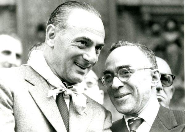 Enrico Mattei e Giorgio La Pira -fonte internet -