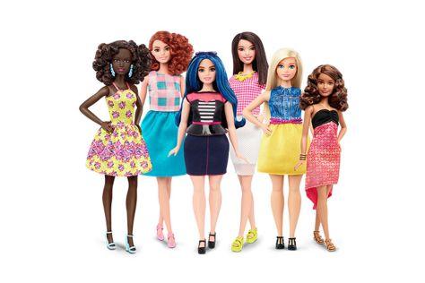 La gamma della nuova Barbie - fonte internet
