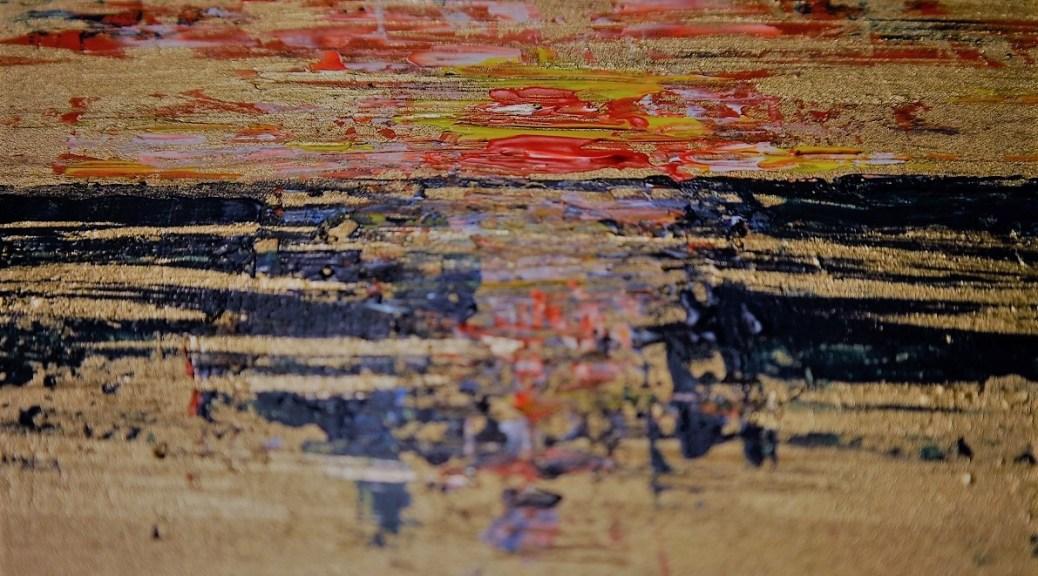 Tramonto facile fatto coi colori rimasti di acrilico