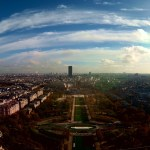 Panorama in Fish Eye con in fondo Tour de Montparnasse