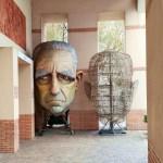 Viareggio il Carnevale; Una Maschera di un carro che è la caricatura dell'ex Presidente Ciampi