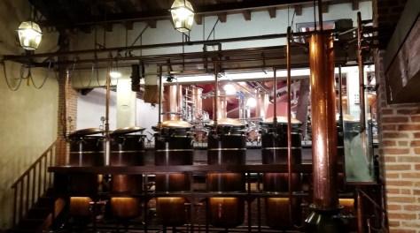 Dentro la distilleria Poli, in visita alle caldaie. Qui la foto è mia.