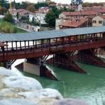Veduta del ponte di Bassano del Grappa.