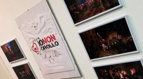 """Foto e maglietta autografata, alcuni momenti dell'associazione """"Io non Crollo"""""""