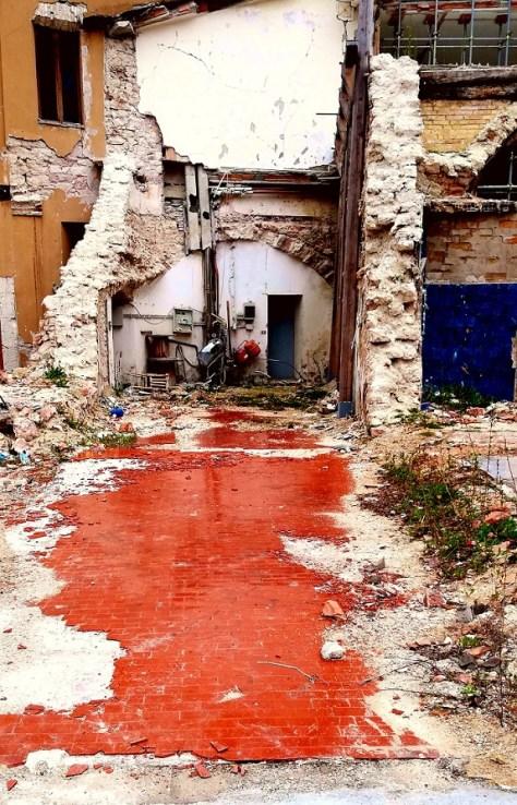 """Prima della """"Zona Rossa"""" a Visso."""