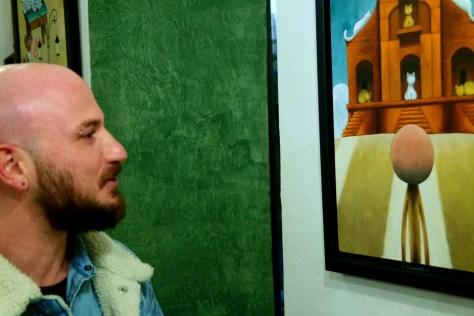 La Petriola, cantina d'arte. L'artista Mauro Falcioni.