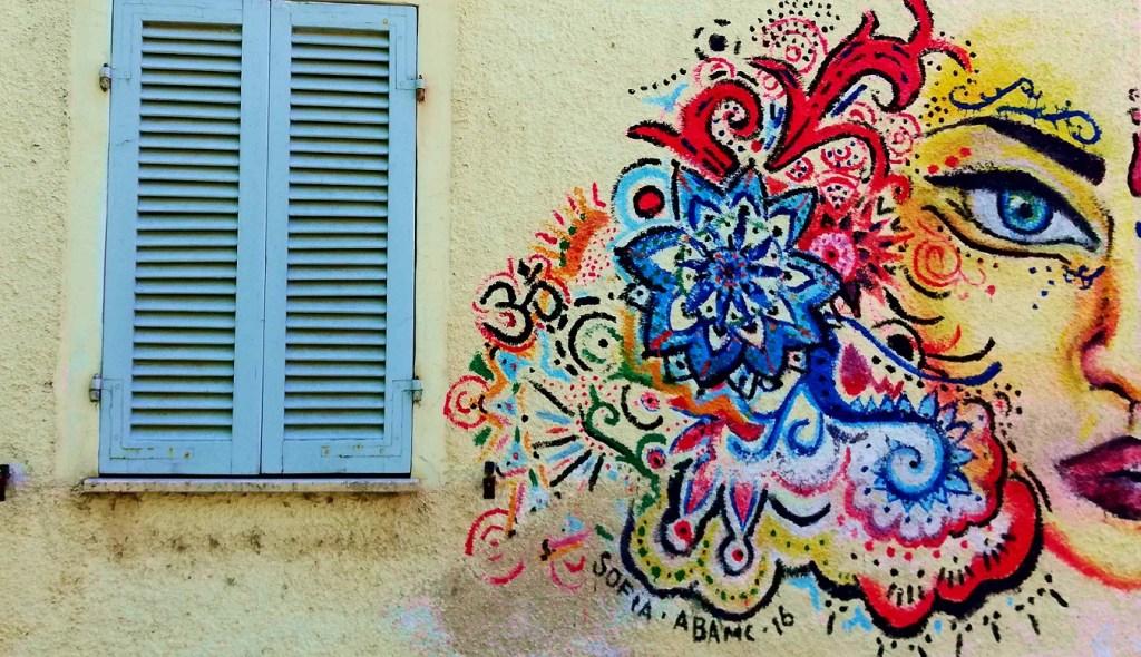 Un murales nel borghetto di Braccano realizzato del 2016