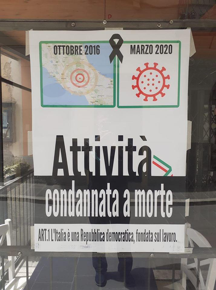 La protesta pacifica dei piccoli bottegai di Norcia richiama l'art.1 della costituzione Italiana.