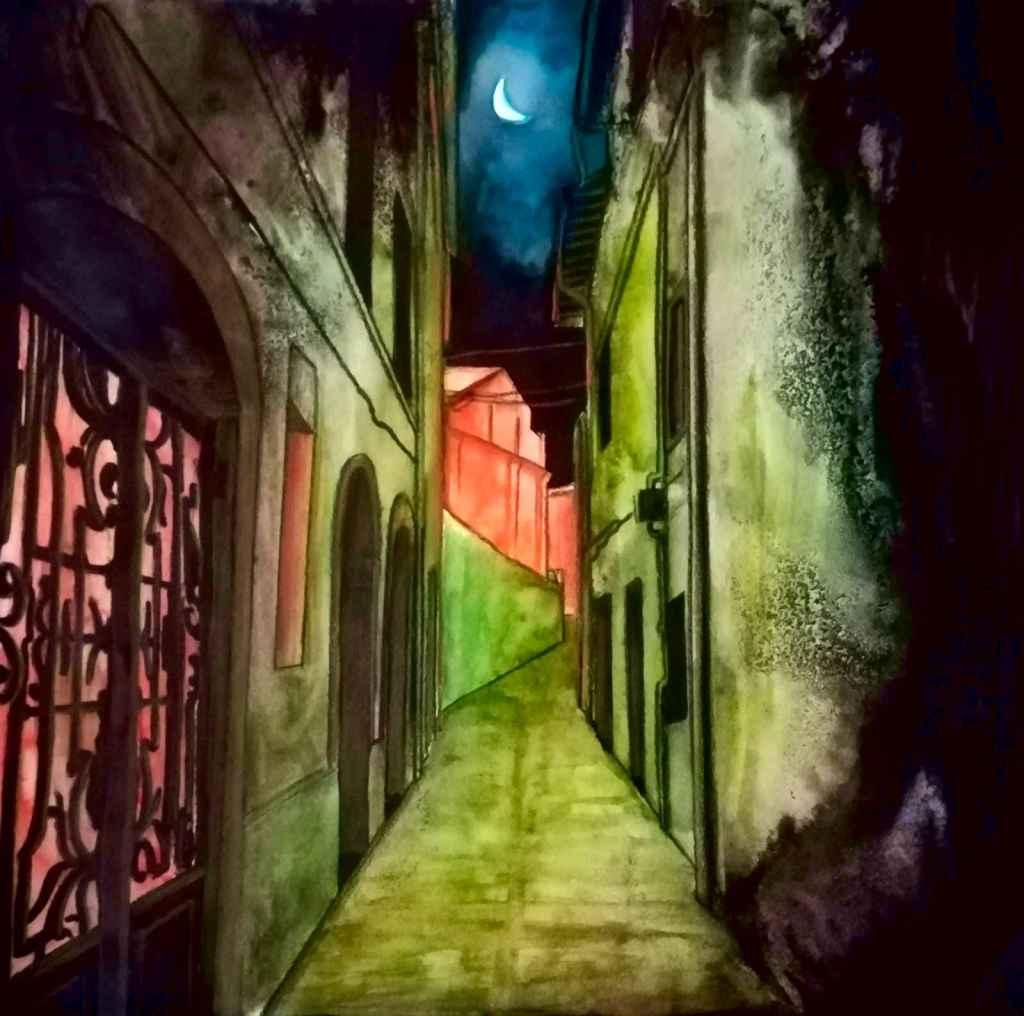 Mauro delle Favole - La reinterpretazione in acquerello di Mauro immerge quei contorni dentro un'atmosfera romantica e fiabesca, è una bellissima emozione