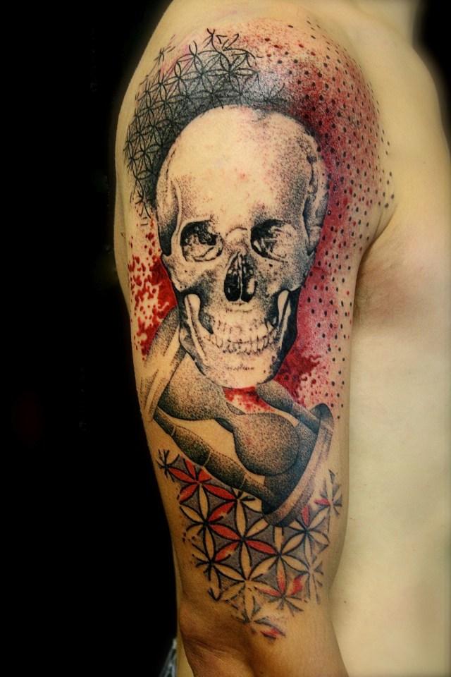 Tatuagem pontilhismo