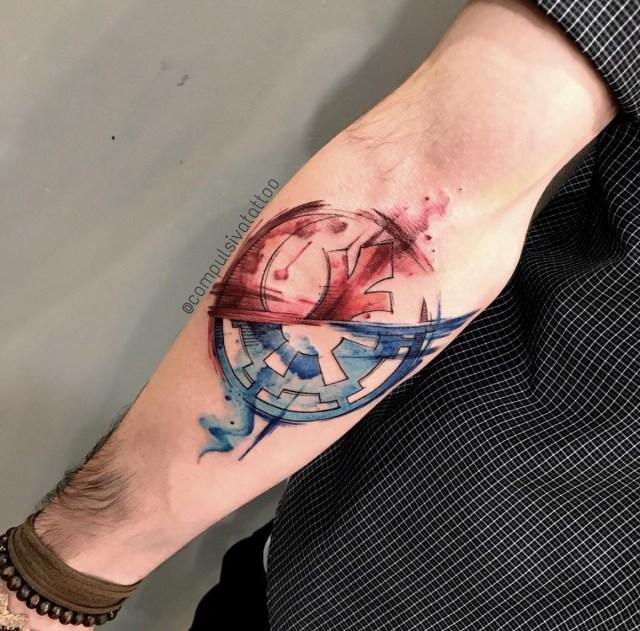 tatuagem tema Star Wars