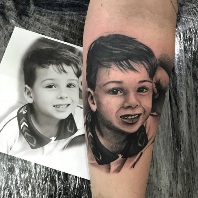 tatuagem homenagem ao filho