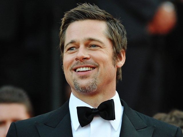 Cavanhaque ou barba circular do ator Brad Pitt