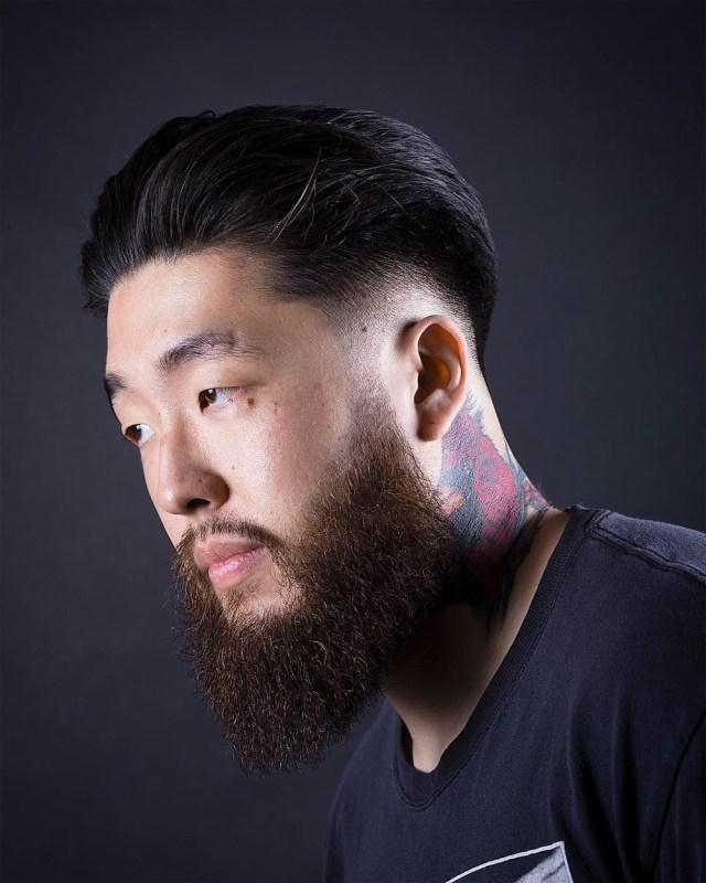 Square beard shape com fade