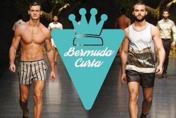 Bermuda curta masculina