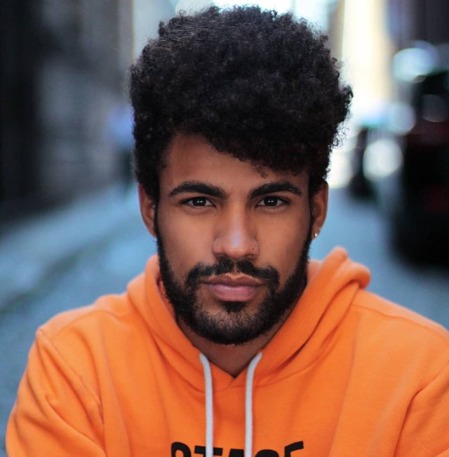 Corte de cabelo masculino afro 2019