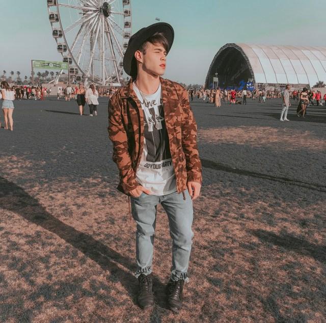 Outfit para o Coachella do Gustavo Rocha