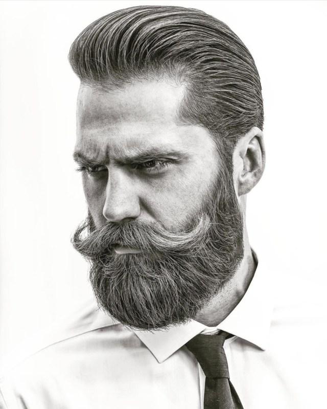 Barba cheia hipster