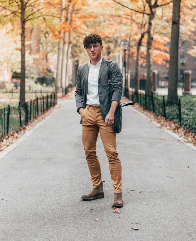 Outfit masculino social casual com blazer