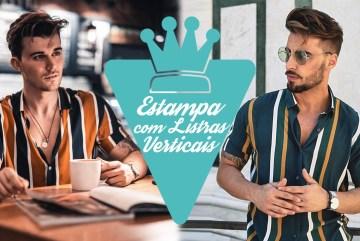 Moda masculina: Estampa com listras verticais