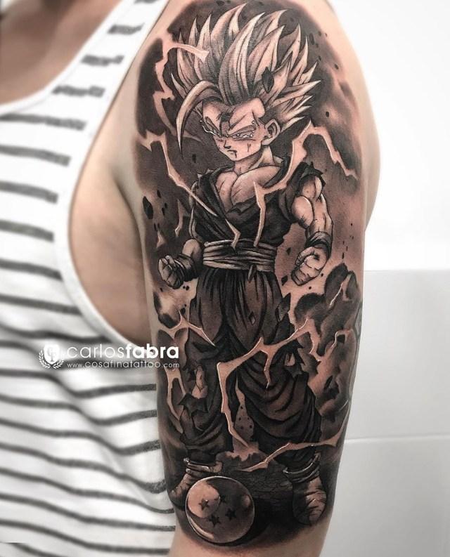 Tatuagem realista do Gohan
