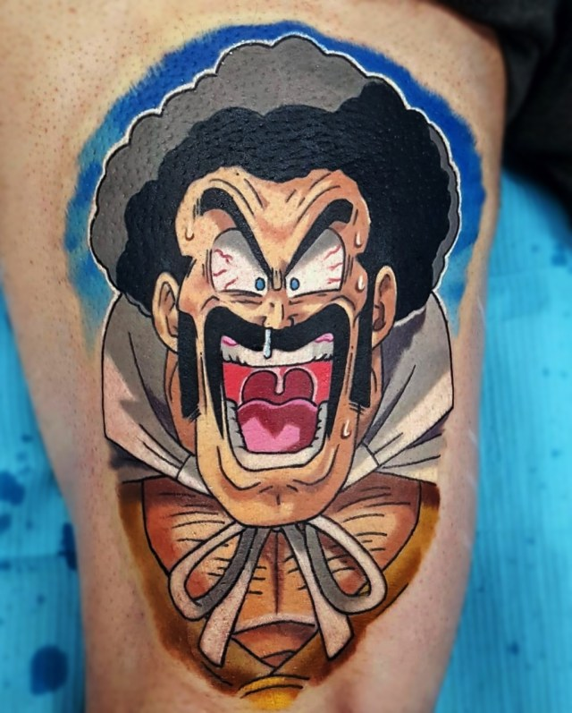 Anime Tattoo Mr. Satan