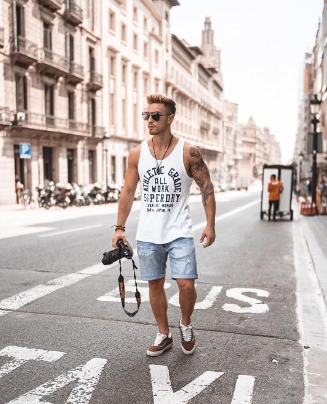 Look masculino Street com regata
