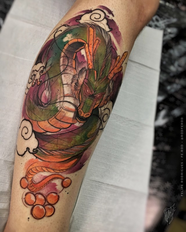 Tatuagem do Shenlong Dragon Ball