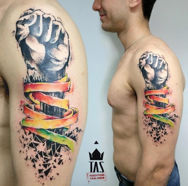 Tatuagem aquarela para homens