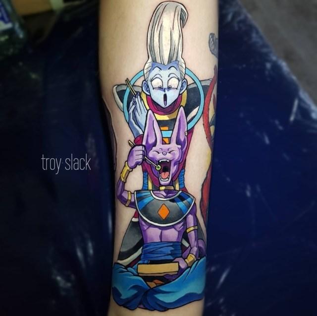 Tatuagem Whis e Bills Dragon Ball