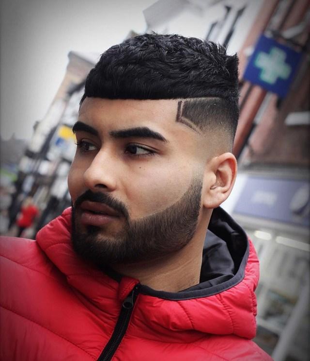 Corte de cabelo para homens com franja