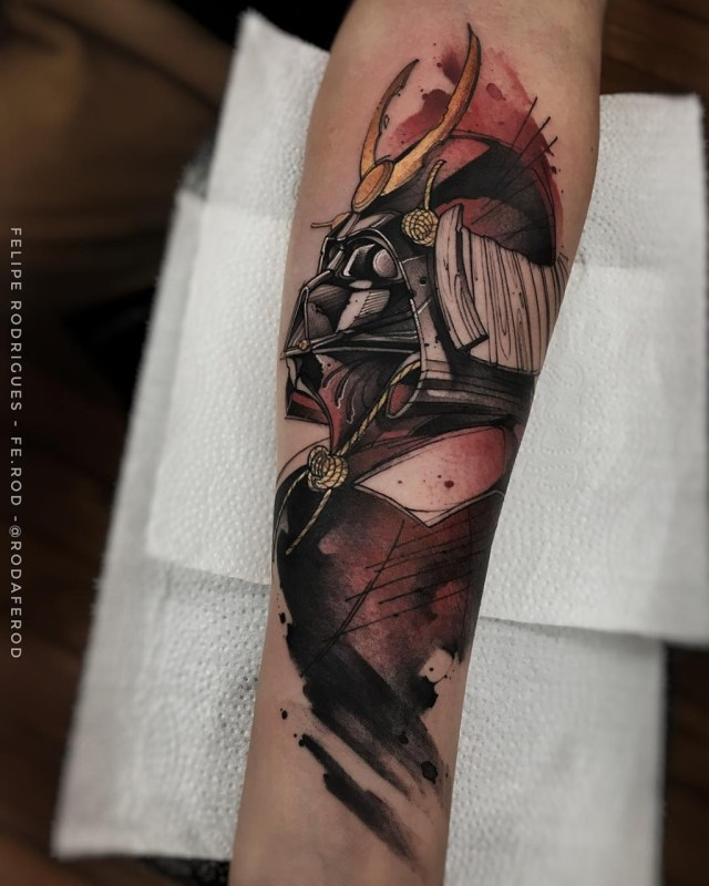 Tatuagem do Darth Vader de Star Wars