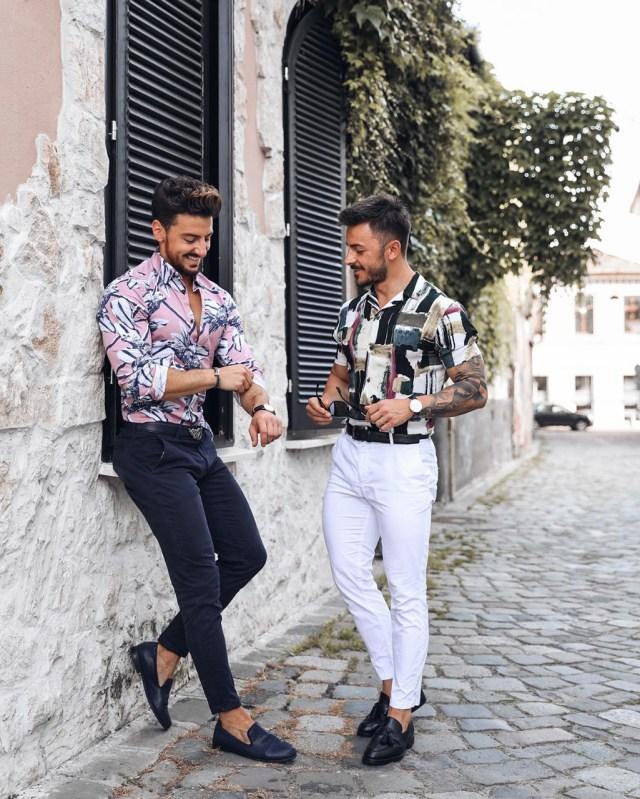 Camisa floral para homens