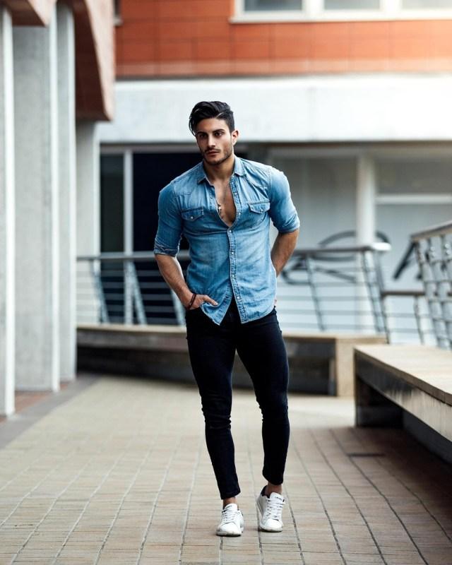 Moda masculina: camisa jeans