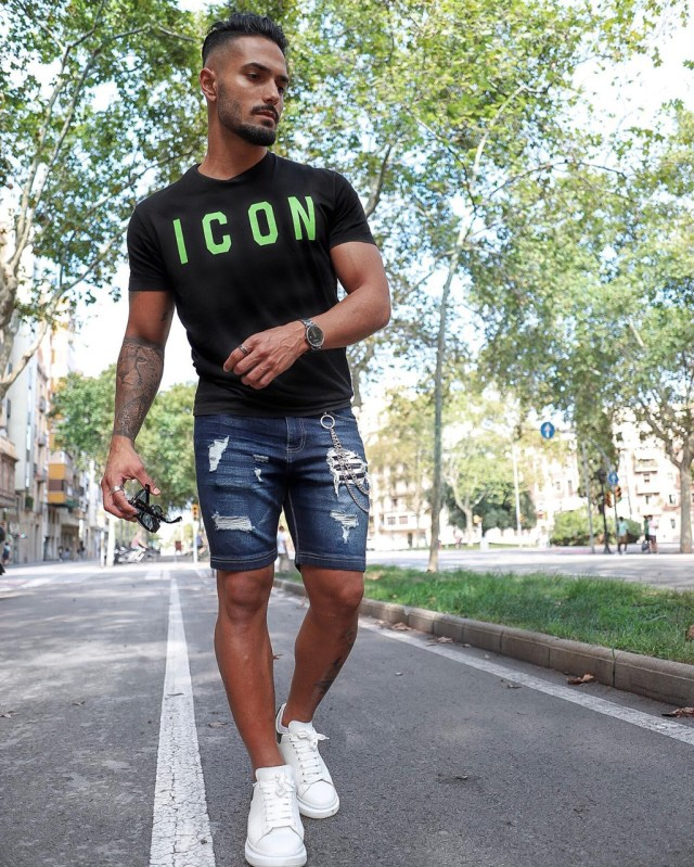 Shorts jeans masculino