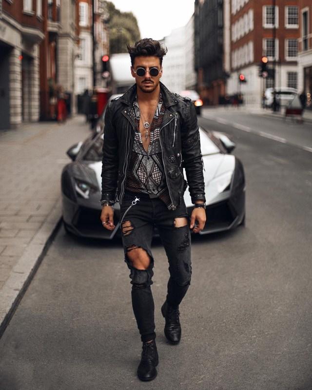 Moda para homens: estilo rocker