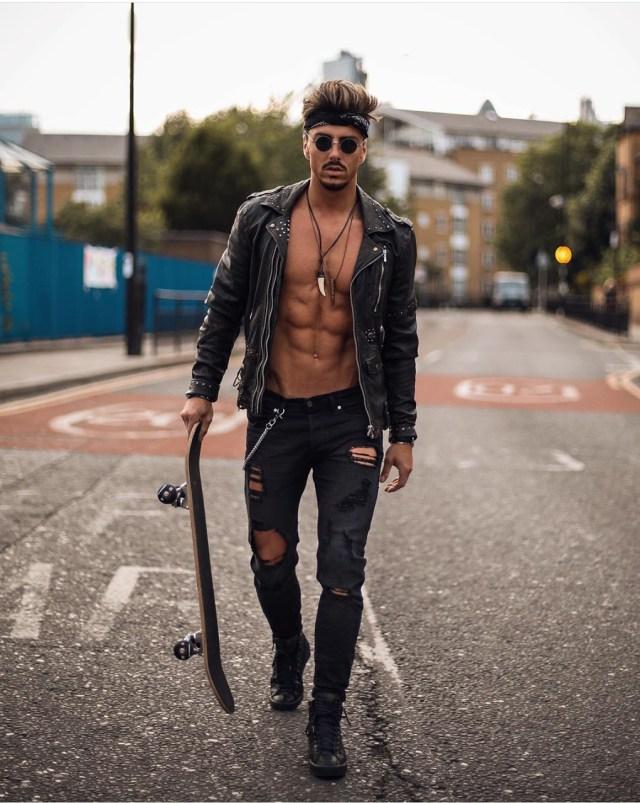 Moda masculina: estilo roqueiro