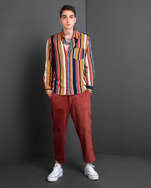 Moda masculina: listras verticais da Baw Clothing