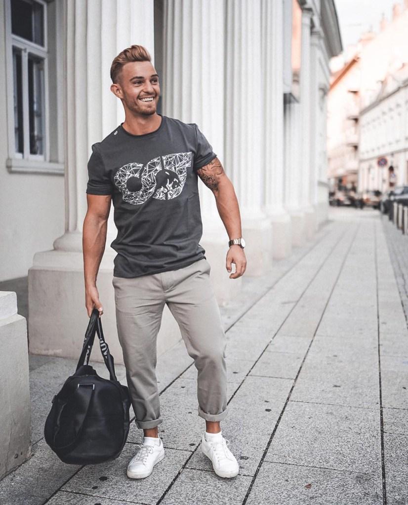 Looks masculinos em cinza: sobre tom