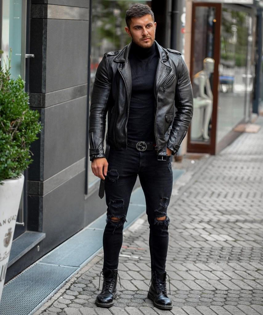 Look masculino estilo rocker