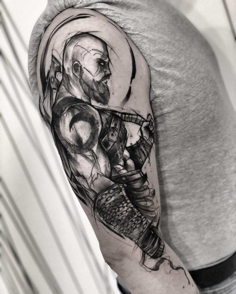Tatuagem do Kratos God Of War