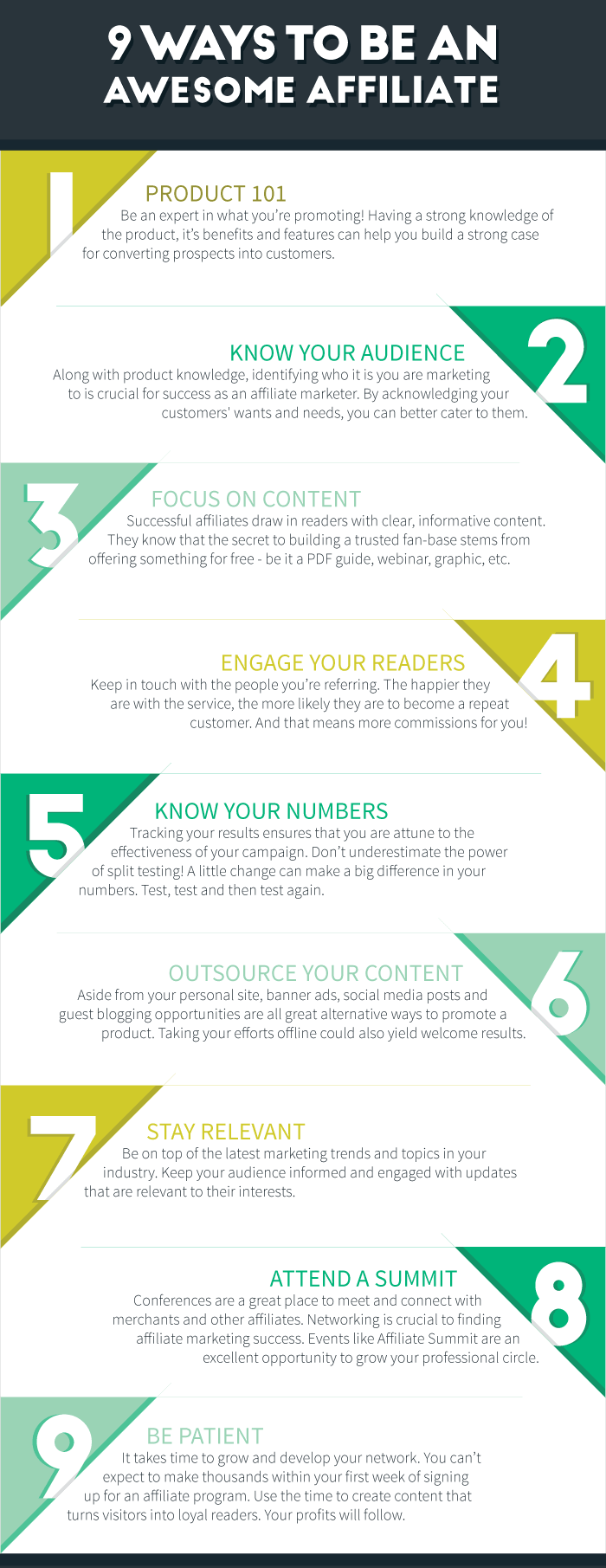 9 steps to be a super affiliate