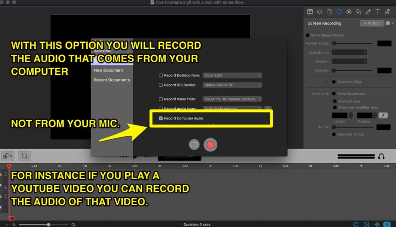 how to record the computer audio